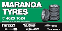 Logo for Maranoa Tyres Vehicle Magnet